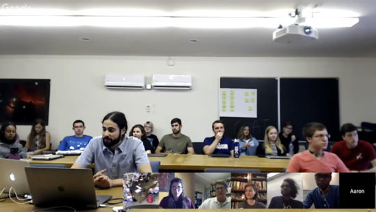 Screenshot of 2018 REU Panel