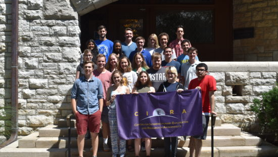 2018 Summer Students on steps of Dearborn Observatory