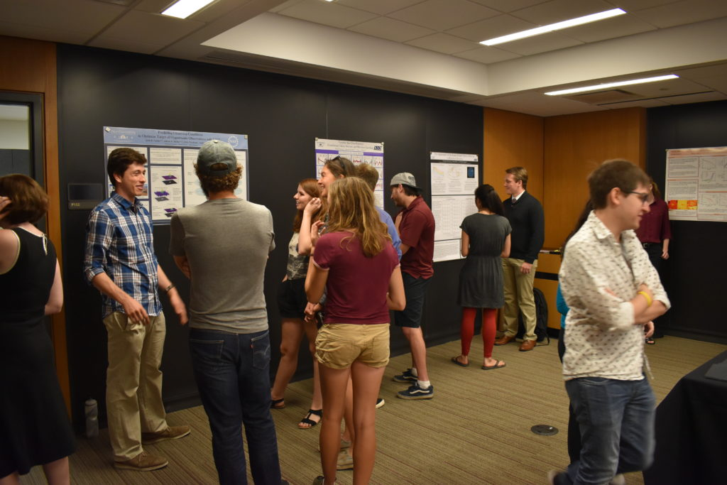 Atmospheric photo of 2018 REU poster session