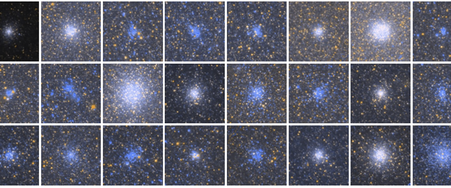 star cluster pannel images